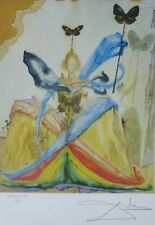 Salvador Dali The Queen of the Butterflies HAND NUMBERED PLATE SIGNED LITHOGRAPH