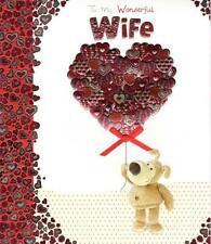 Boofle Wonderful Wife Happy Valentine's Day Card Cute Greeting Cards