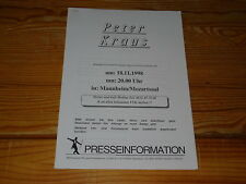 PETER KRAUS - LIVE IN MANNHEIM 1998 / 13 PROMO-FACTS 1998