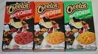 (3) Cheetos Mac 'n Cheese Flamin Hot, Cheesy Jalapeño And Bold And Cheesy - NEW!