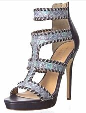 Nicole Miller Multi-Color Strappy Leather Platform Sandal Size 8 New In Box NIB