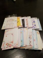 Kawaii Grab Bag of *10* loose RANDOM letter sets / Japanese stationery + BONUS