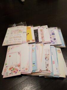 Kawaii Grab Bag of *10* loose RANDOM letter sets / Japanese stationery + BONUS