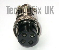 4 Pin conector de micrófono Locking Plug Mike (GX16-4) para muchas de las radios populares