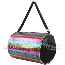 Gymnastics Ballet Colorful Rainbow Shimmer Dance Duffle Bag Holographic Sequin