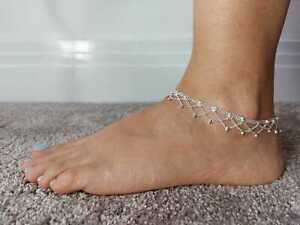 Silver Indian Payal Ankle Foot Jewellery Gift