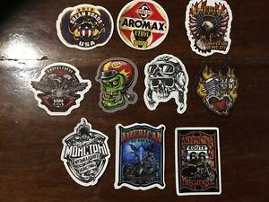 10 x retro motor cycles FTW vinyl man cave stickers mancaveideas mens gift ideas