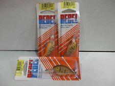 Lot of 3 Rebel Teeny Wee-r  crankbait  fishing lures 2 sizes NIP