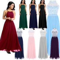 Women Formal Wedding Bridesmaid Maxi Evening Party Prom Ball Gown Cocktail Dress