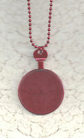 Vintage Monocle type Trial or Optical Lens Necklace Red Ball Chain