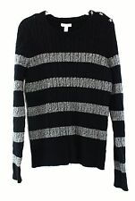Women's Striped Crewneck Jumpers and Cardigans
