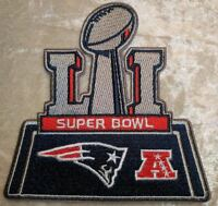 Super Bowl LI 51 New England Patriots Iron On Embroidered Patch ~