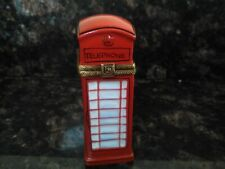 Limoges Trinket Box London Phone Booth Peint Main with stamp