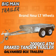 10x6 HEAVY DUTY  TANDEM TRAILER BRAKED HOT DIP GALVANISED 2000KG