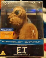 E.T. ET BLU RAY DIGITAL UV NEW SEALED SPECIAL EDITION WITH PLUSH SOFT TOY