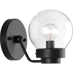 Progress Lighting Spatial Collection 1-Light Black Bath Light