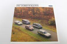 1987 Ford Wagons Original 16-page Dealer Brochure