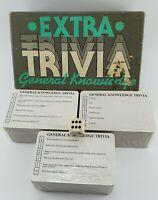 Vintage Extra Trivia Popular General Knowledge Quiz Card Game Boxed 1986
