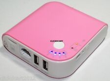 Power Bank 5200mAh With Ethernet 3G Wireless WiFi Router Hotspot TF Card Reader