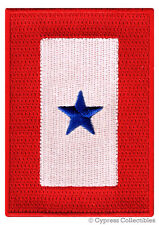 BLUE STAR SERVICE BANNER embroidered PATCH iron-on MILITARY FLAG EMBLEM
