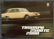 TRIUMPH 2500TC & 2000 Sales Brochure May 1974 #T1077
