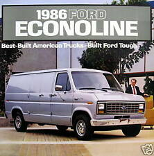 1986 Ford Econoline van new vehicle brochure