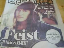 Exclaim Newspaper Magazine Feist, Ryan Adams October 2011 Ben Folds, Wild Flag,
