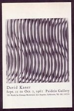 1960s Small Vintage David Kaner Exhibition Paideia LA Art Gallery Print Ad