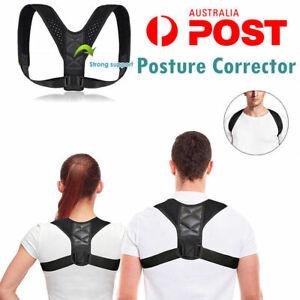Unisex Body Wellness Posture Corrector Adjustable Shoulder Back Support Belt AU
