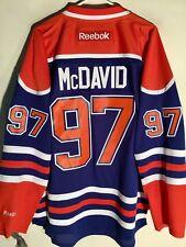 Reebok Premier NHL Jersey Edmonton OIlers Connor McDavid Blue sz L