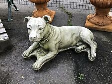 Staffordshire Bull Terrier reconstituted stone