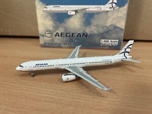 Aegean A321 1:400 (Reg SX-DNH) PH11576 Phoenix
