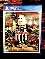 Sleeping Dogs Definitive Edition - Sony PlayStation 4 - PS4 - Brand NEW - Sealed