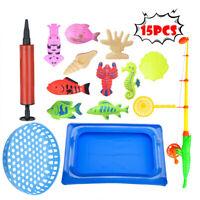 Magnetic Fishing Toys Game Set for Kids Plastic Floating Fish Toddler Education
