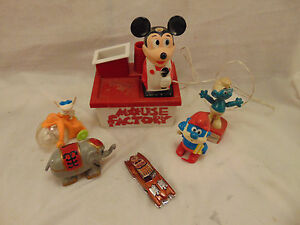 Vintage toys Mickey Mouse Papa Smurf Elephant Smurf Puppet Hot Wheels Evil Twin