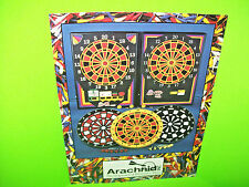 Arachnid ENGLISH MARK DARTS Foldout Original NOS Arcade Game Promo Sales Flyer