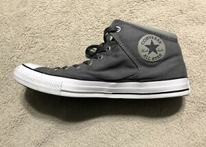 Converse Chuck Taylor All Star Mid-Top Gray Canvas Shoes Men's 13. 155470C