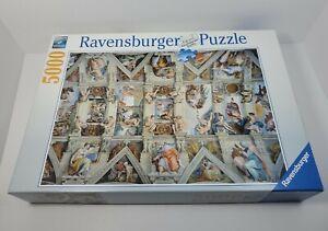 """Ravensburger Puzzle 5000 Pieces Sistine Chapel Complete 60""""x40"""""""