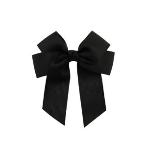 Wholesale 20 3.5'' Hair Knot Grosgrain Ribbon Hair Bow With Clip For Girl Baby