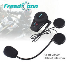 500M BT GPS Motorcycle Interphone Bluetooth Motorbike Helmet Intercom Headset FM