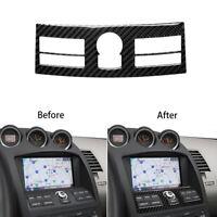 For Nissan 350Z 2006-2009 Carbon Fiber Navigation Control Panel Decor Trim Cover