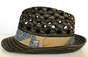 Chapeau Mixte Goorin Bros forme Trilby 100% paille de papier brun et noir
