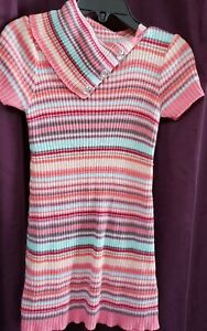 Self Esteem Girl's Multi-color sweaterdress. size 4, good condition(barely worn)