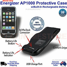 2 x Energizer AP1000 Protective Case Built-In Rechargeable Battery iPhone 3G/3GS