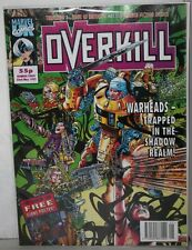 BRITISH MARVEL COMICS OVERKILL #3  FROM 1992 WITH GIANT POSTER- COM-780