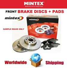 MINTEX Front Axle BRAKE DISCS + BRAKE PADS SET for VW POLO 1.4 TDI 2014->on
