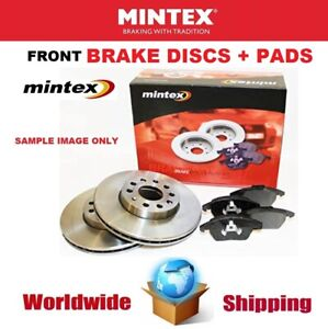 MINTEX Front Axle BRAKE DISCS + PADS SET for MERCEDES BENZ GLE 350 2015->on