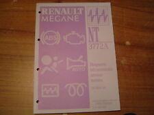 MANUEL DE REPARATION RENAULT MEGANE CABRIOLET DIAGNOSTIQUE N.T. 3772A