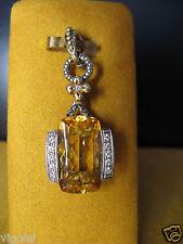 BIG BARBARA BIXBY CITRINE CUSHION DIAMOND COUTURE ENHANCER PENDANT Mother's Day