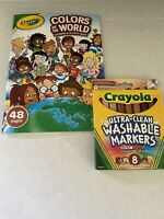 Crayola Colors of the World Multicultural  8 Pack Markers, Activity Book